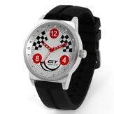 GT 002 Sport Fashion Casual Gel de sílica Watch Banda Car Racing Style Homens relógio de pulso de quartzo