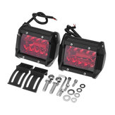 Para Red 4 Inch Tri Row 60W 20 LED Work Light Bar Flood Spot Combo Lampa dla samochodu SUV Offroad