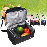 6.7L Picnic Bolsa Impermeable Lunch Shoulder Bolsa Portable Dual Compartment cámping Thermal Bolsa Ice Pack