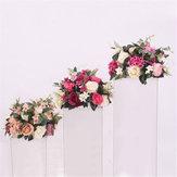 38 cm Soie Rose Pivoine Fleur Artificielle T Station Stand Toile de Fond De Mariage Décor Fournitures
