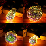 E27 6W Colorful 3D Christmas Holiday LED Firework Light Decorativo per la casa lampada LED Lampadina