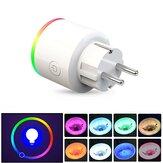 XS-SSA12 AC100-250V 16A إحصاءات الكهرباء في الاتحاد الأوروبي RGB المشهد ضوء ذكي وايفاي المقبس المحمول هاتف التبديل الموقت