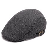 Heren Dames Winter Warme Wollen Baret Caps Verstelbare Casual Cabbie Hoeden