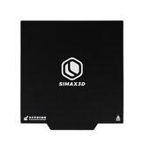 SIMAX3D® Ruban de lit à impression magnétique 235 / 310mm Autocollant de lit chauffant noir Base magnétique pour plaque chauffante pour imprimante 3D