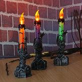 DiadasBruxasCaveiraSkeletalMão Stand LED Candle Light Party Decorações