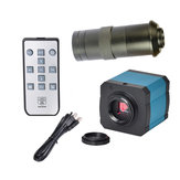 HAYEAR 14MP USB HD Câmera do microscópio de vídeo da indústria Zoom digital 720p 720p 60Hz Saída de vídeo + 100X lente C-mount