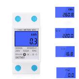 DDS528L LCD Digital Display Energy Meter 230V AC 50Hz Single Phase Backlit Display Wattmeter Power Consumption Energy kWh Electricity Meter