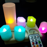 6Pcs RGB LED Flameless Candle Lights with 12-Key Remote Battery Operated Tea Light Flickering Birthday Holiday Decor Lights