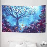 Underwater World Tree Tapestry Art Print Tapestry Home Office Room Wall Hanging Decoration