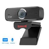 Redragon GW800 1920 X 1080P 30fps HD USB Webcam Foco Fixo Microfone embutido Câmera Smart Web Cam para Jogos de PC Laptops