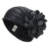MujervendimiaBandacondobladillofloral con forma de gorro y sombrero para la cabeza