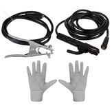 Зажим заземления + сварочные клещи + пара перчаток для электросварочного аппарата ZX7-250 220V