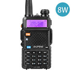 BAOFENG UV-5R Atualização 8W 128Canais Walkie Talkie UV Dual Banda Rádio Transceptor Portátil Bidirecional Walkie Talkie Exterior LED Lanterna Rádio FM Caminhada Conduzindo Intercomunicador Civil