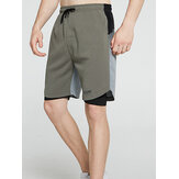 Mens Casual Breathable Drawstring Loose Fit Comfy Home Shorts
