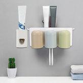 Distribuidor automático do dentífrico distribuidor 6 da escova de dentes 3 copos