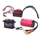 Surpass Hobby KK 2440 Motor Brushless 35A Brushless ESC 3KG Digital Servo Brushless Set para 1/16 RC Car Model Parts