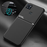 Bakeey for Xiaomi Redmi 9C Case Magnetic Texture Non-slip Leather TPU Shockproof Protective Case | Non-original