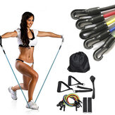 11PCS 30LBS Yoga Widerstandsbänder Set Heimtraining Fitness-Trainingsröhrchen Indoor-Trainingsgeräte