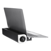 USB Low Noise 3 Gears Wind Speed Adjustable Macbook Cooling Radiator with Laptop Stand Holder for 12-17 inch Notebook