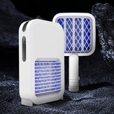 2In1 Mosquito Swatter Killer With Light Waves USB Charging Handheld Insect Fly Bug Electric Racket Zapper Home Camping