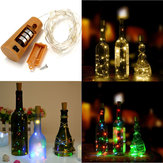 Batterie alimentée à 8 LEDs en forme de corde en plein air LED Night Starry Light Bouteille à vin pour Party Xmas