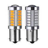 1156 BA15S 33SMD LED Feux de recul de freins de voiture ampoule de clignotant DC12V 5W 660LM rouge / orange
