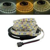 5M 5050 SMD Двухцветная температура Регулируемая белая Теплый белый Не водонепроницаемый LED Гибкий свет прокладки DC12V