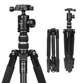 SHOOT XTGP438 Aluminiumlegierung 4-Sections-Kamera-Stativ für Canon für Nikon DSLR-Ständer mit Kugelkopf 10kg Max. Belastbarkeit 1,4m Max. Höhe