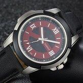YAZOLE383LederarmbandLuminousBeiläufigMännlich Quart Uhr