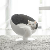 FURRYTAIL BOSS Cat Boss Fiber Spinning Pet Nest White Minimalist Interactive Pet Bed van XIAOMI YOUPIN