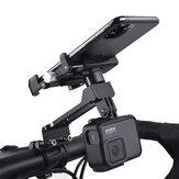 ホイールアップW-099拡張バージョン多機能屋外Vlog記録アルミ合金オートバイバイク自転車ハンドルバー携帯電話ホルダースタンド55-100mm幅のデバイス用