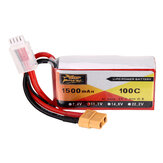 ZOP Power 11.1V 1500mAh 100C 3S Lipo Batterie XT60 Stecker für RC Racing Drone