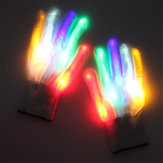 Halloween LED Glove Dancing Stage LED Palm Light Up Flash Finger Tip For DJ Club Party Props