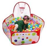 Odkryty basen z piłeczkami dla dzieci Składane dzieci małe dzieci grają w gry Namiot do koszykówki Rainbow Balls Pool