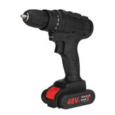 Cordless Impact Wrench Drill Socket 25 Speeds LED Electric Screwdrive w/ 1/2 Batteries