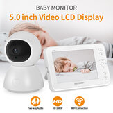 SHIWOJIA Video digital inalámbrico Baby Monitor 1080P Visión nocturna Audio bidireccional Carga USB IP Cámara