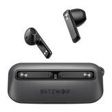 BlitzWolf® BW-FPE1 TWS bluetooth Telefon Kulaklığı 1.7CM Ultra İnce Taşınabilir Kulaklık 13mm Büyük Sürücü HiFi Stereo ENC Çift Mikrofon Yarım Kulak İçi Kulaklık