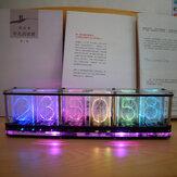 Geekcreit® Imitate Glow Clock Full Color RGB Glow Tube Clock LED Music Spectrum Kit