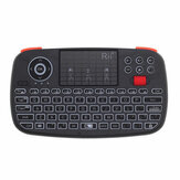 RII RT726 Bluetooth 2.4G Sem Fio Air Mouse Mini Teclado Touchpad Airmouse com Roda de Rolagem