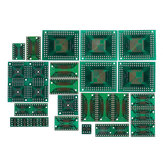 150pcs PCB Board Kit SMD Turn To DIP Adapter Converter Plate FQFP 32 44 64 80 100 HTQFP QFN48 SOP SSOP TSSOP 8 16 24 28