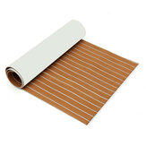 90x240cm Light Brown with White EVA Foam Teak Boat Flooring Sheet Yacht Synthetic Teak Decking Pad
