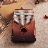 17 nøgler Gauntlets Thumb Piano Mahogany kalimbas Træakustisk musikinstrument til begyndere med tilbehør