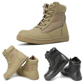 Children Boys Tactical Combat Boots Outdoor Casual Ankle High Top Boots Soft Comfy Lace-Up Walking Shoes