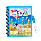 1 Set Magic Water Coloring Book Doodle Water Color Pen Painting Drawing Board Toys Water Drawing Book Birthday Gifts for Kids