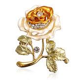 Blume verlässt Crystal Strass Legierung Brosche Pin Zubehör