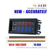 M4430 Mini Digital Voltmeter Ammeter DC 100V / DC 200V 10A Panel Amp Volt Voltage Current Meter Tester Detector with Dual LED Display