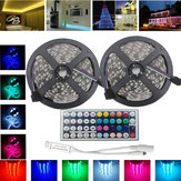10M SMD 5050 Non-Waterproof RGB 600 LED Strip Tape Flexible Light + 44 Keys IR Controller DC12V