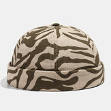 Collrown Khaki Skull Cap Cotton Diverse Patterns Adjustable Cap Brimless Hats
