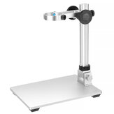 Mustool Aluminum Alloy Adjustable Stand Bracket Holder Microscope Holder with Big workbench for Digital Microscope Suitable for Most Models G600 G1200