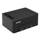 MAIWO K3082H USB3.0 para SATA Dual Bay Hard Drive Docking Station com 3 portas USB3.0 Hub para 2,5 / 3,5